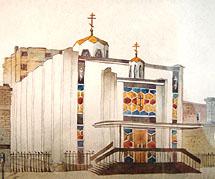 Church Aquarel
